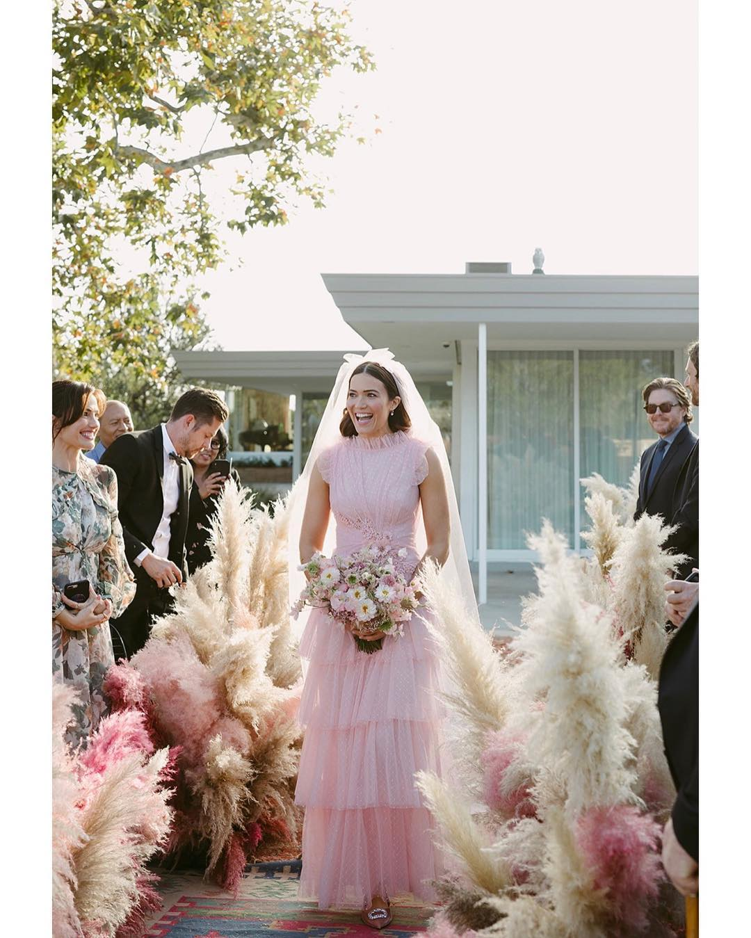 Celebrity Brides Who Wore Bold Colors On Their Wedding