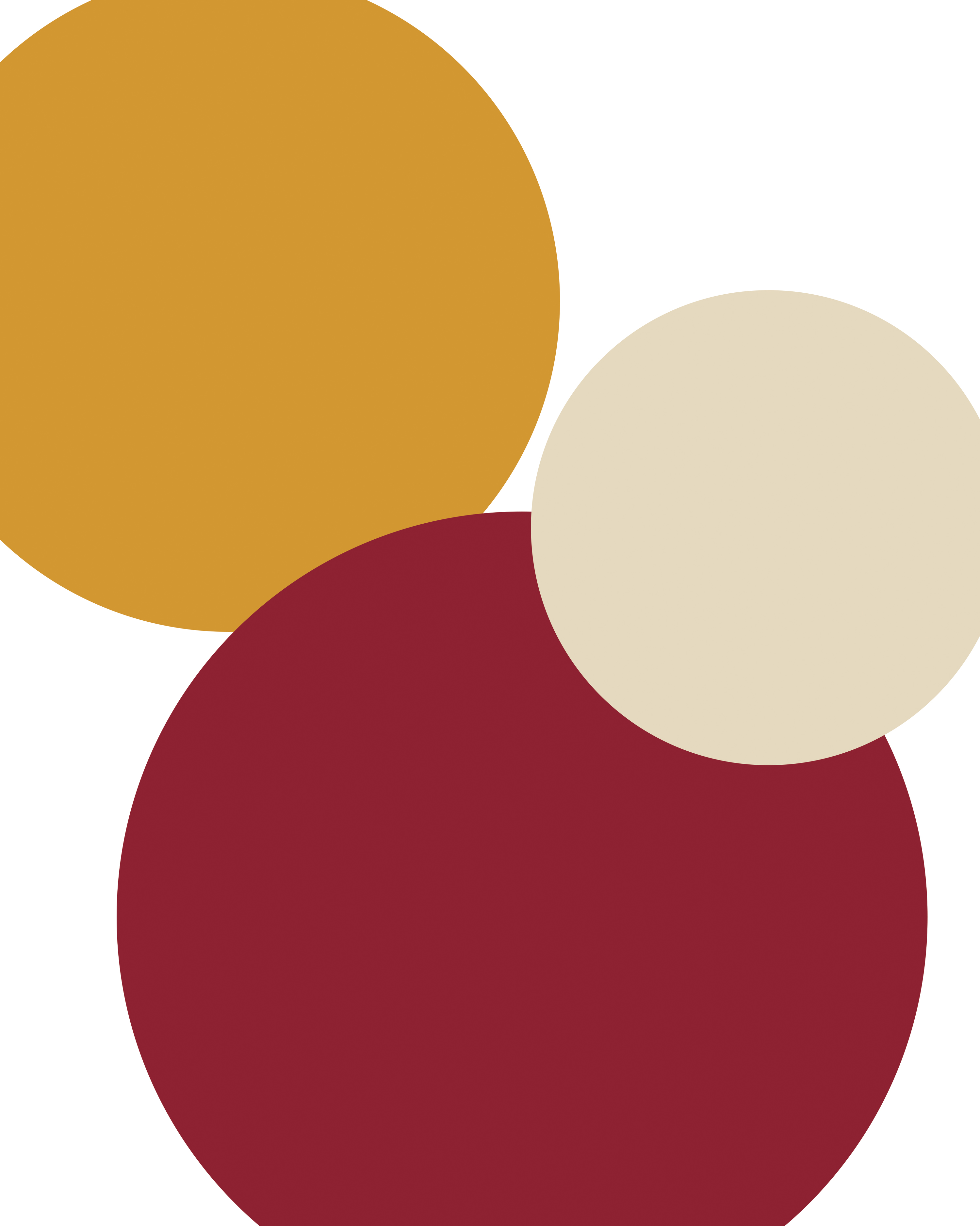 Cream, Maroon, and Gold