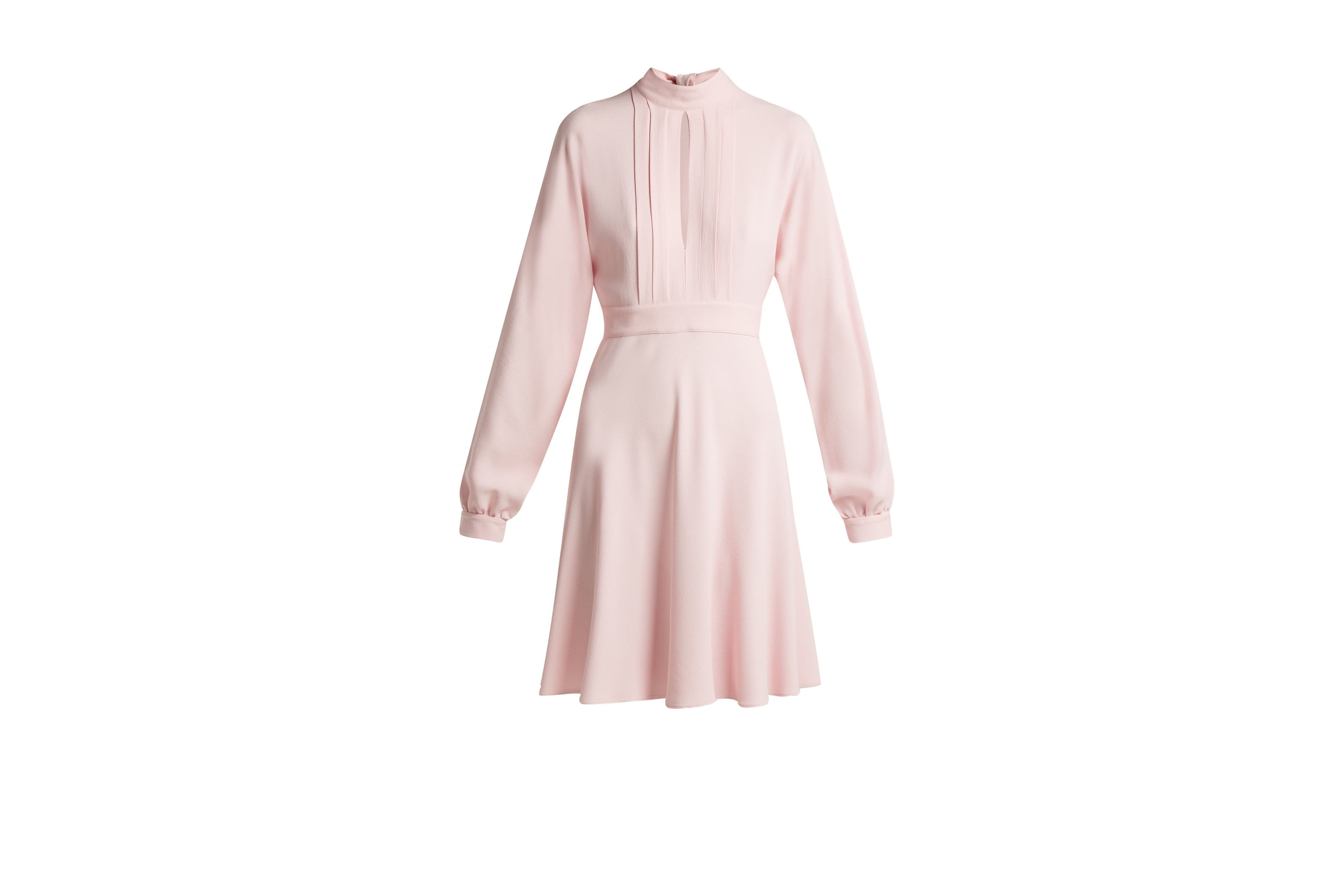 GIAMBATTISTA VALLI baby pink keyhole crepe dress