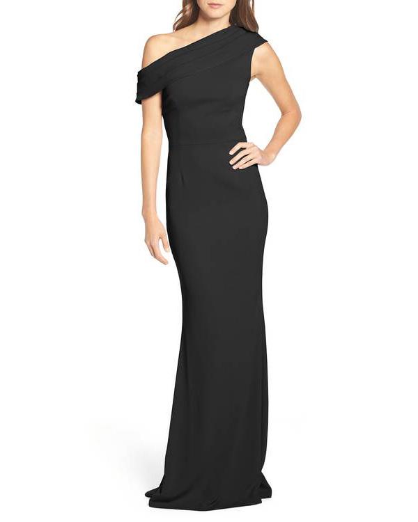 black off-shoulder dress