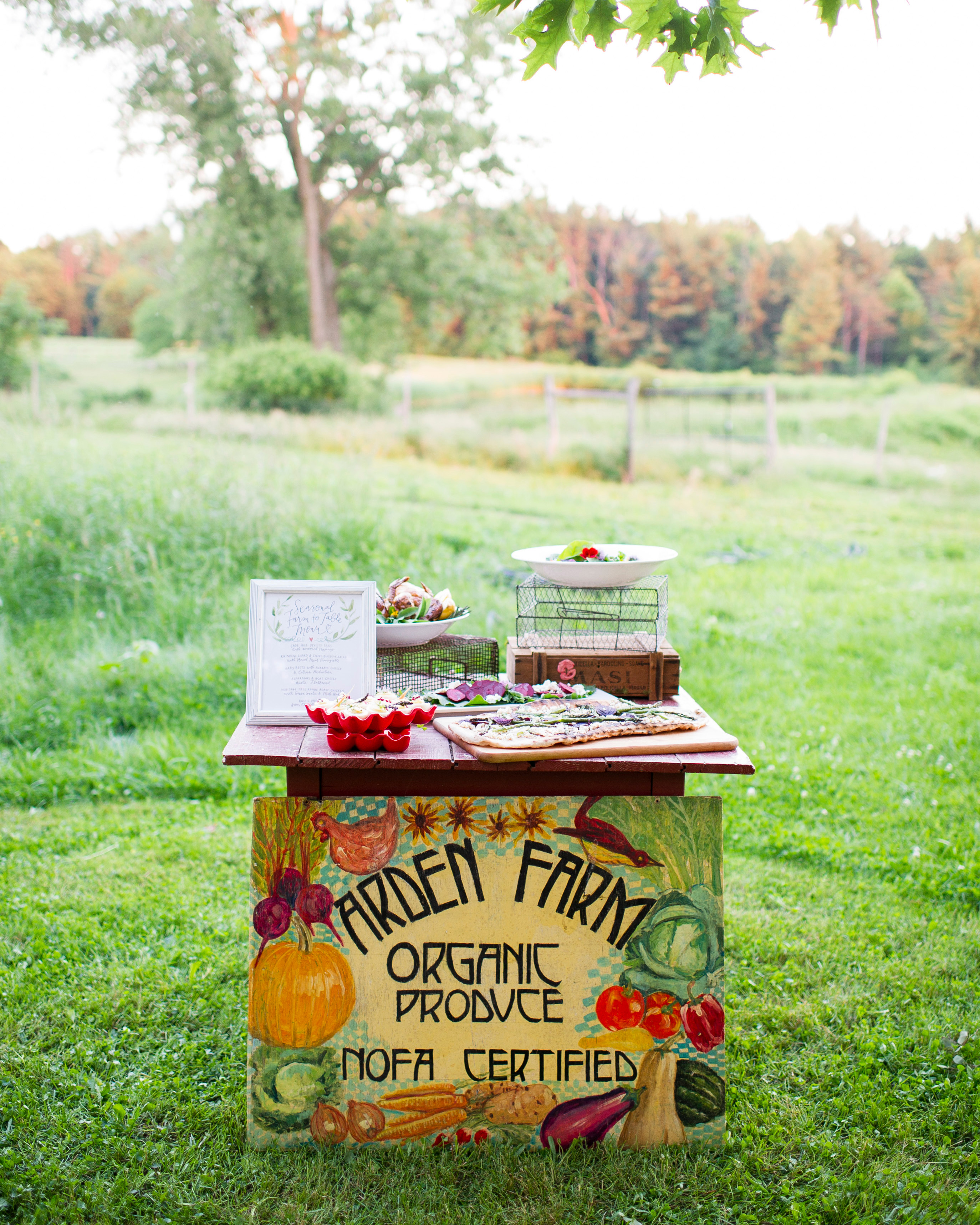 summer reception ideas farm stand