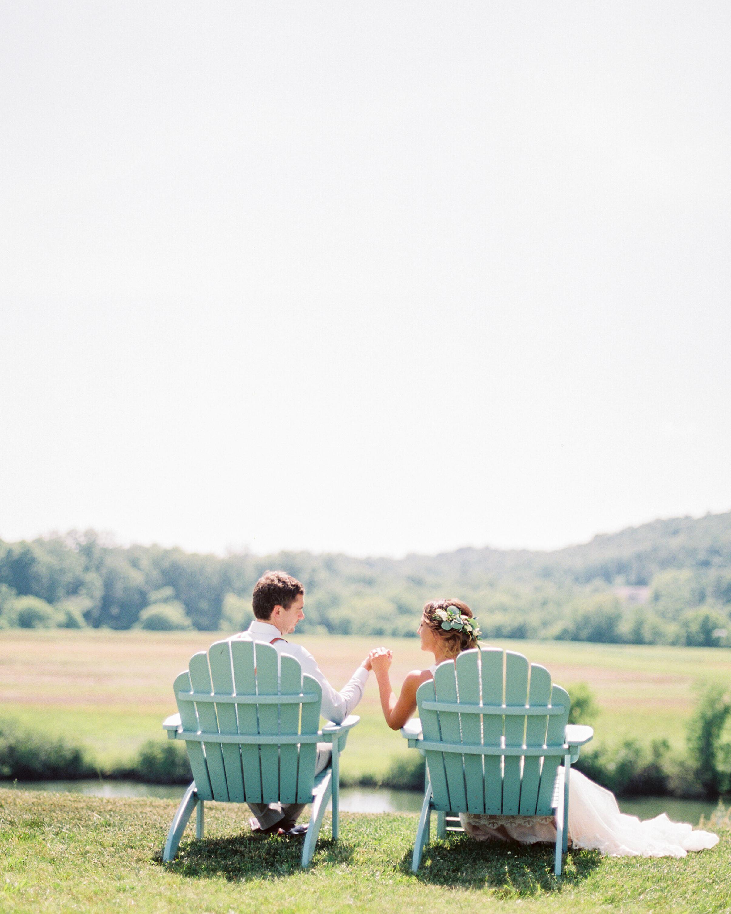 summer reception ideas Adirondack chairs