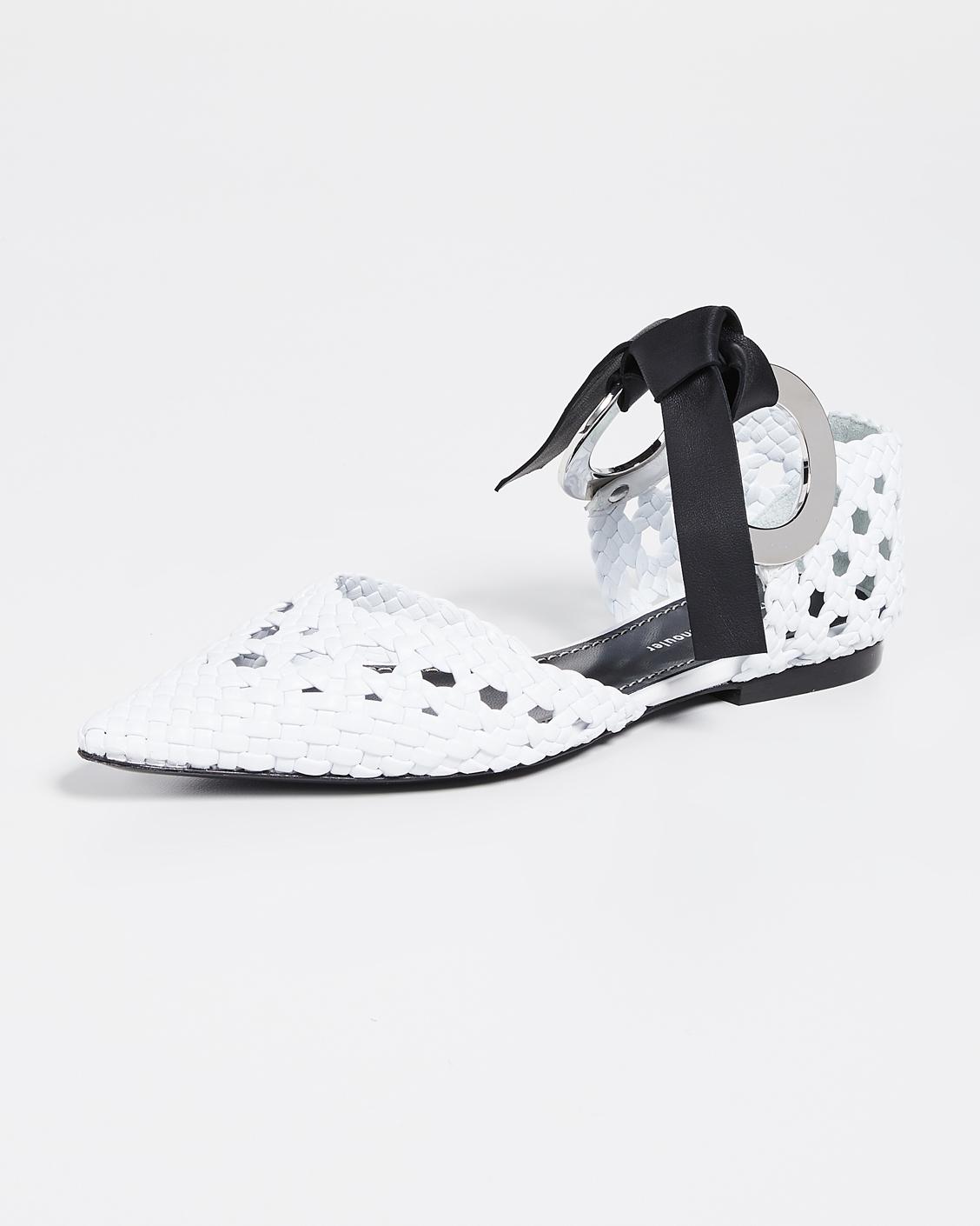 outdoor wedding shoes tie woven flats