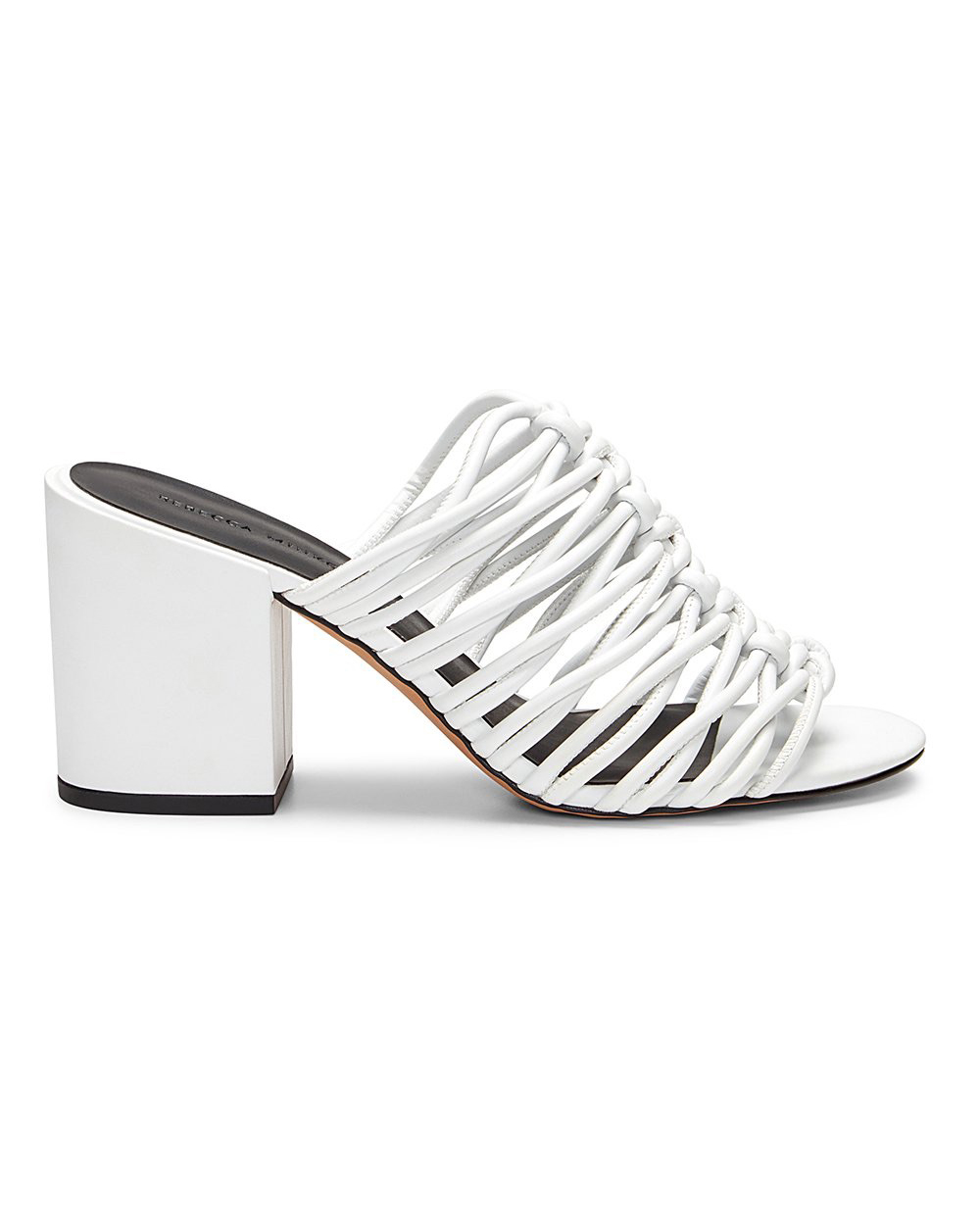 outdoor wedding shoes white knotted strap mules