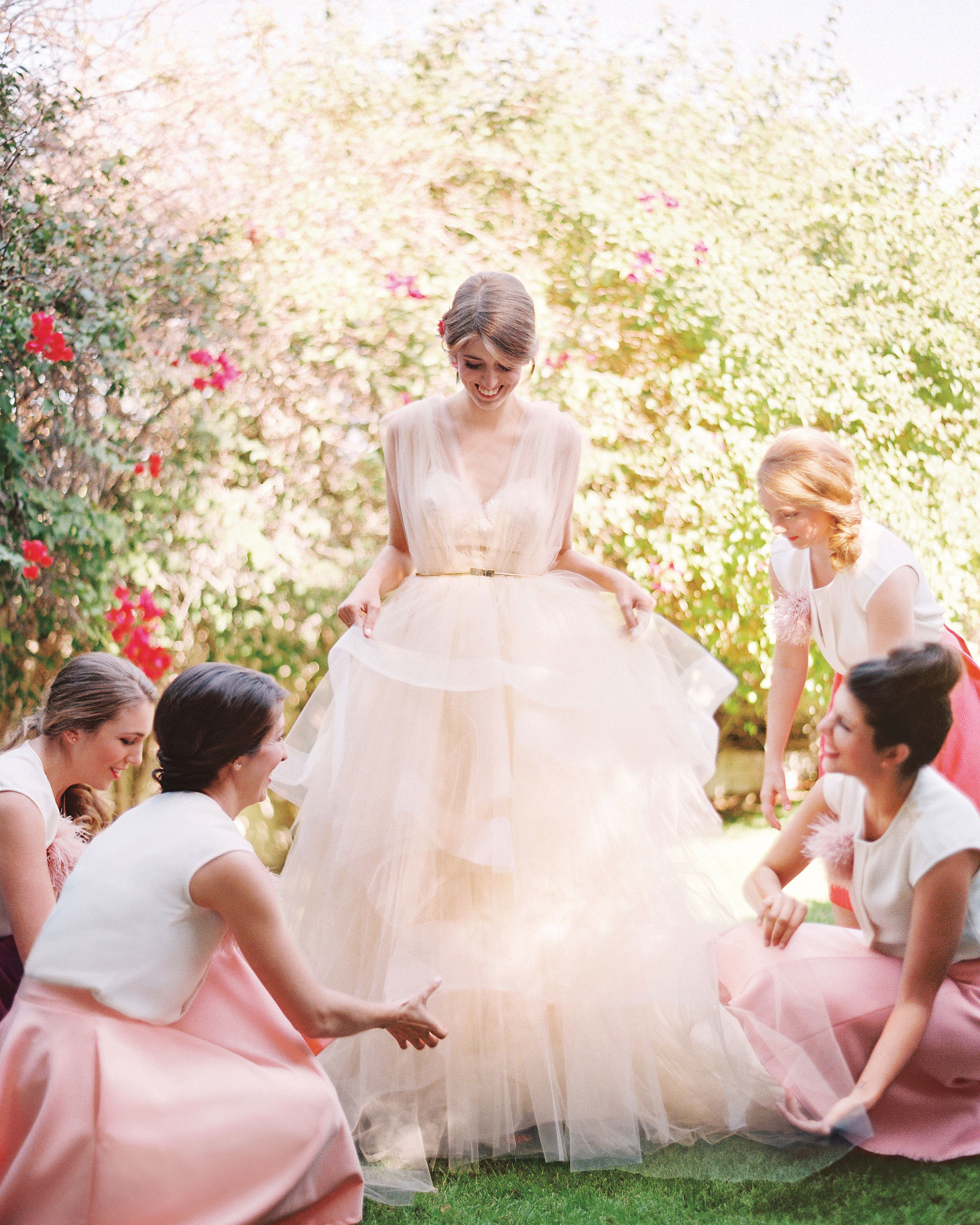 16 Pretty-in-Pink Wedding Dresses