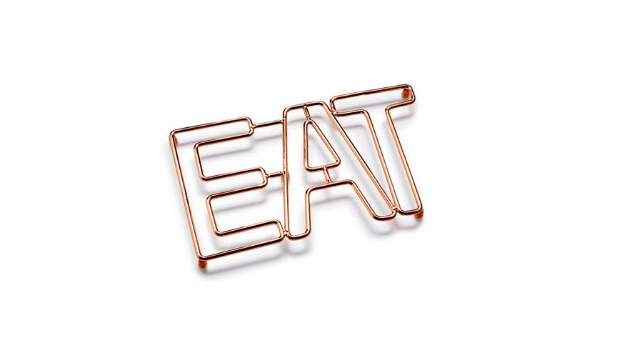 "Martha Stewart Collection Copper ""Eat"" Trivet"