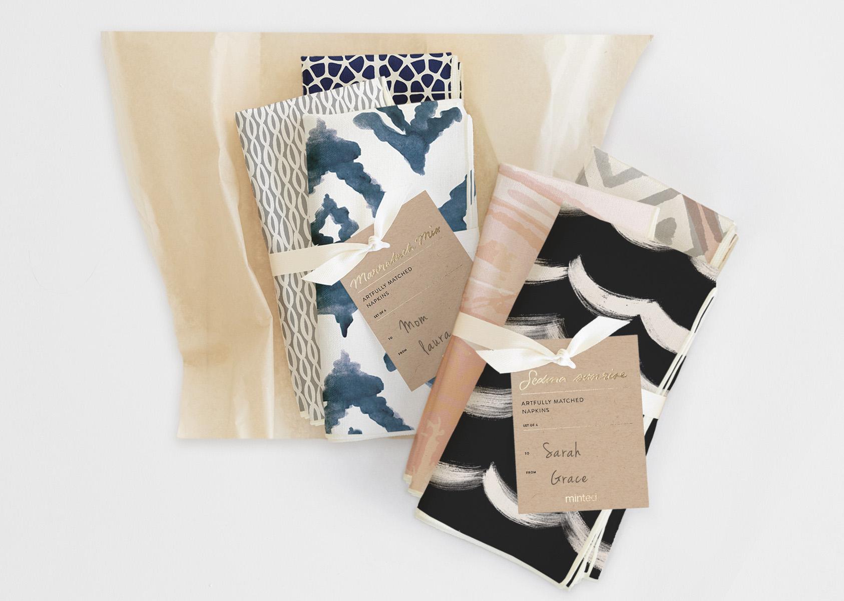Hostess gift idea Minted napkin sets