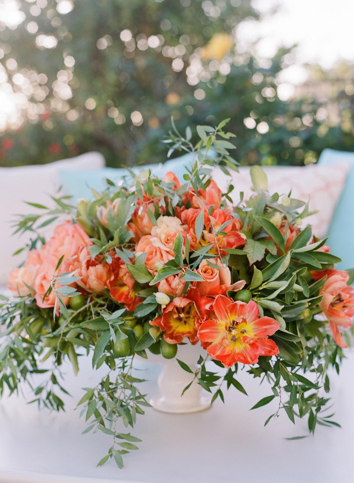 fall wedding flowers fire lilies