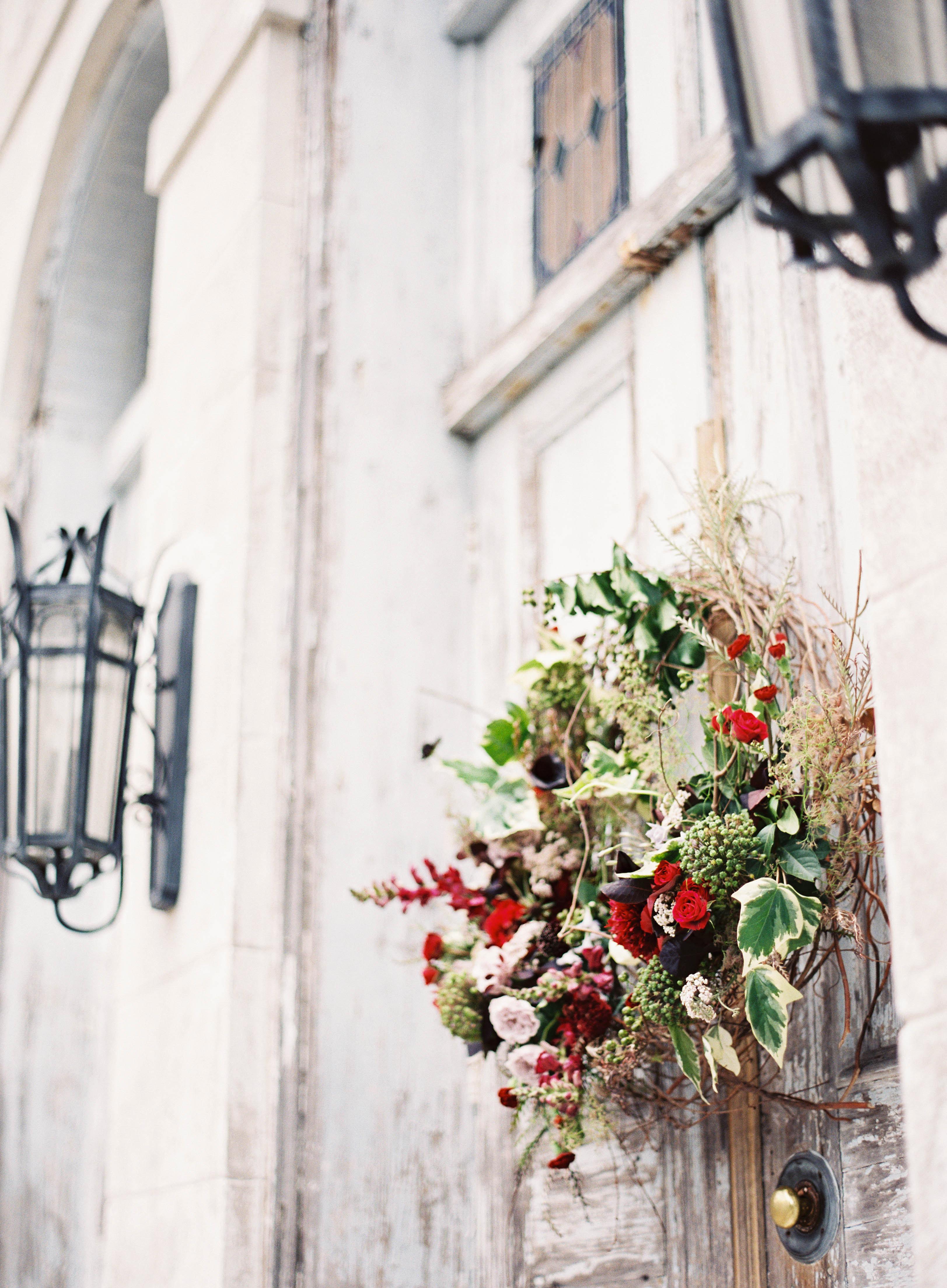 autumnal wedding wreath