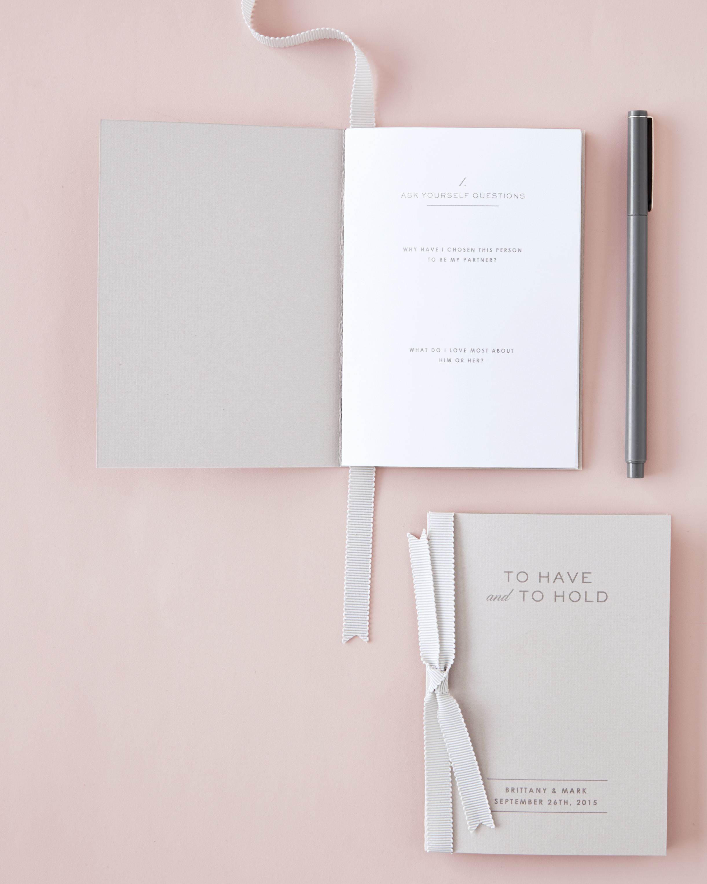 A Handy Workbook to Help You Write Your Wedding Vows