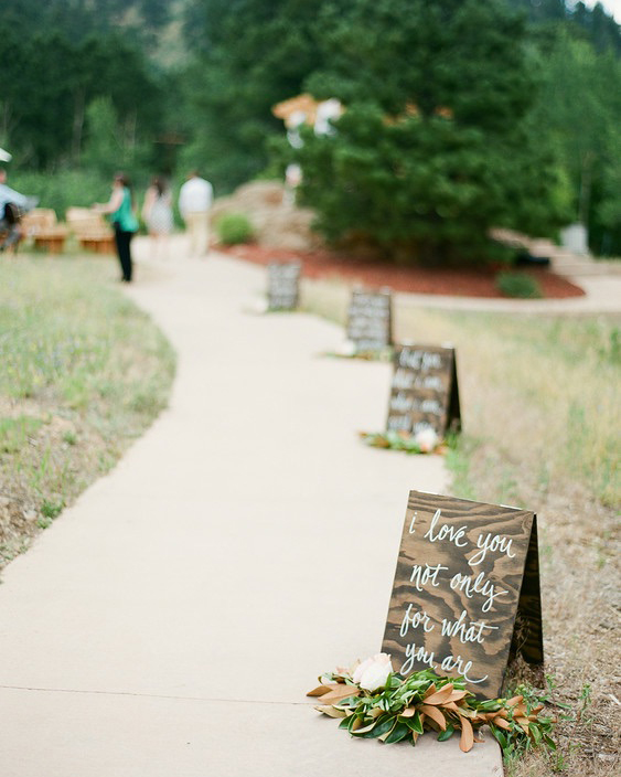 quotes at weddings walkway signs