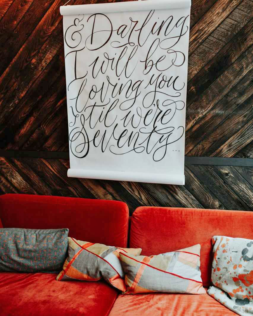 quotes at weddings fabric ceremony decor