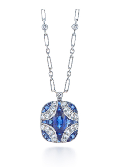 blue silver pendant necklace