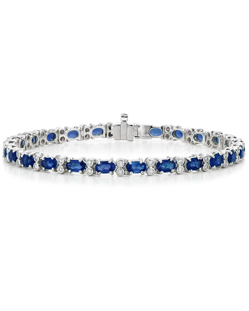 blue jeweled bracelet