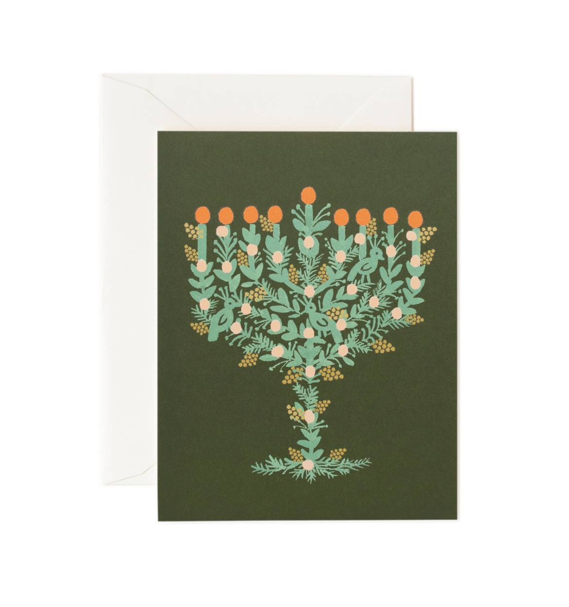 holiday card rifle paper co menorah