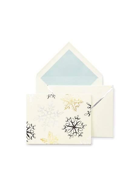 holiday card kate spade snowflakes