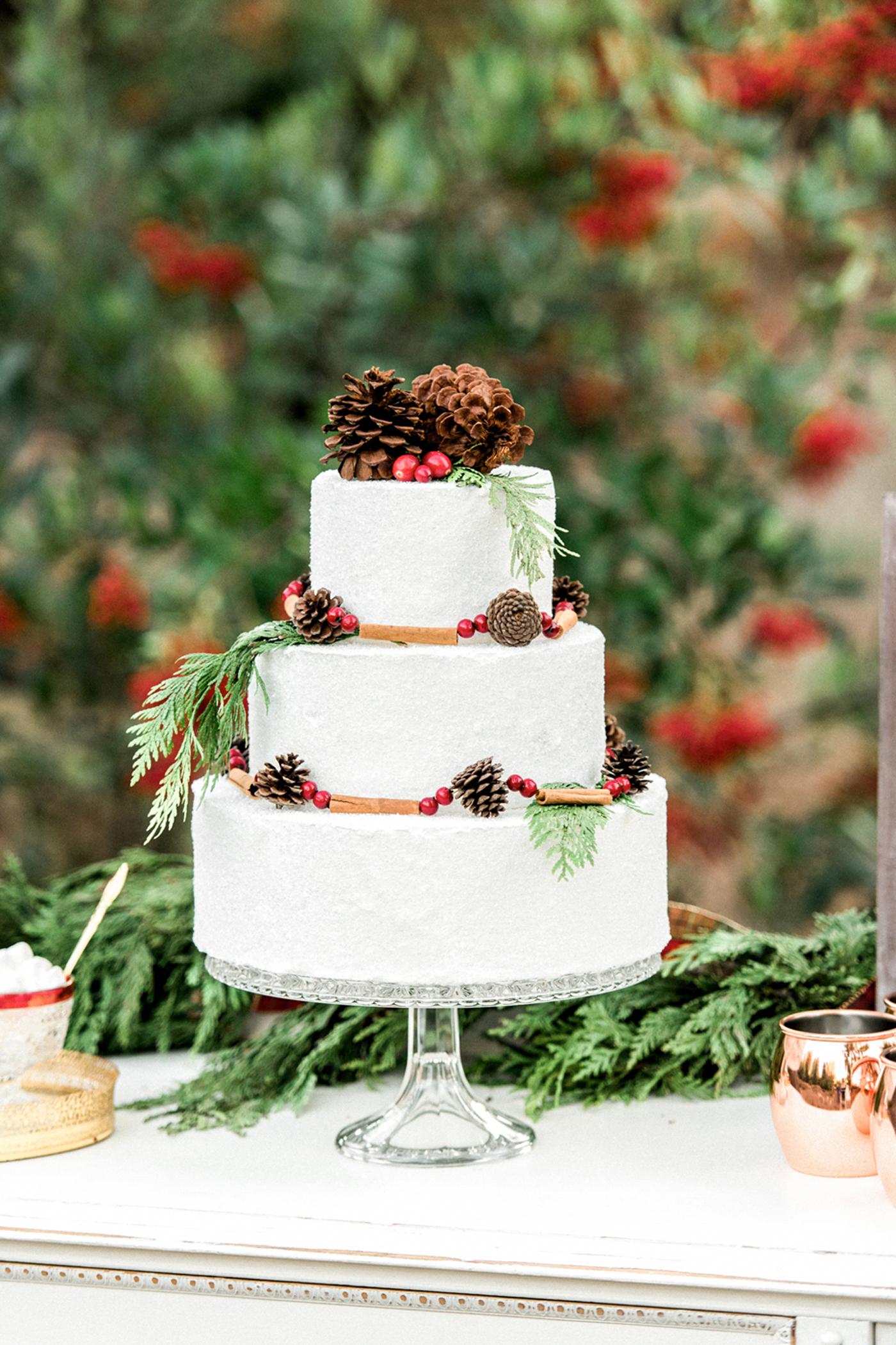 winter wedding cakes christie skari