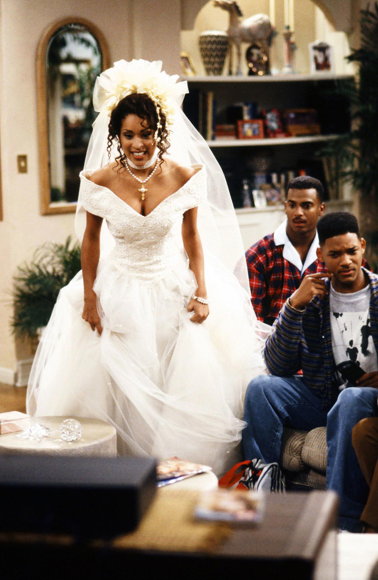 tv wedding dresses fresh prince of bel air