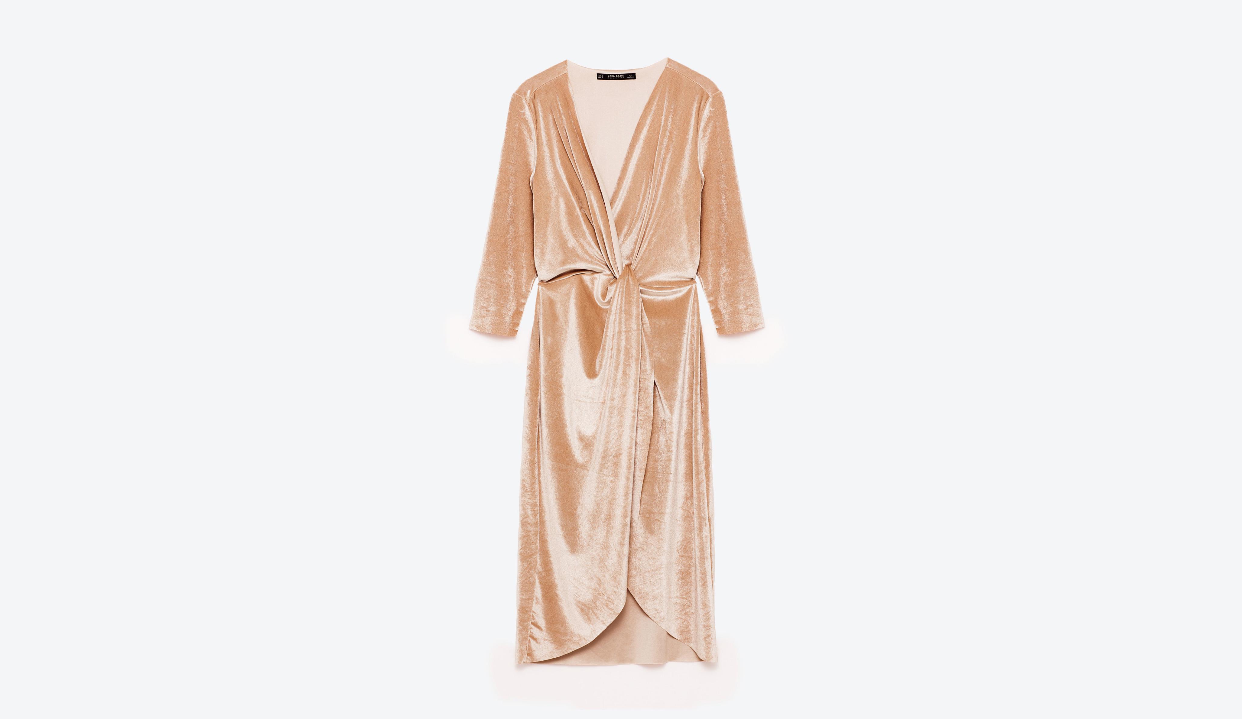 engagement party dress zara blush velvet