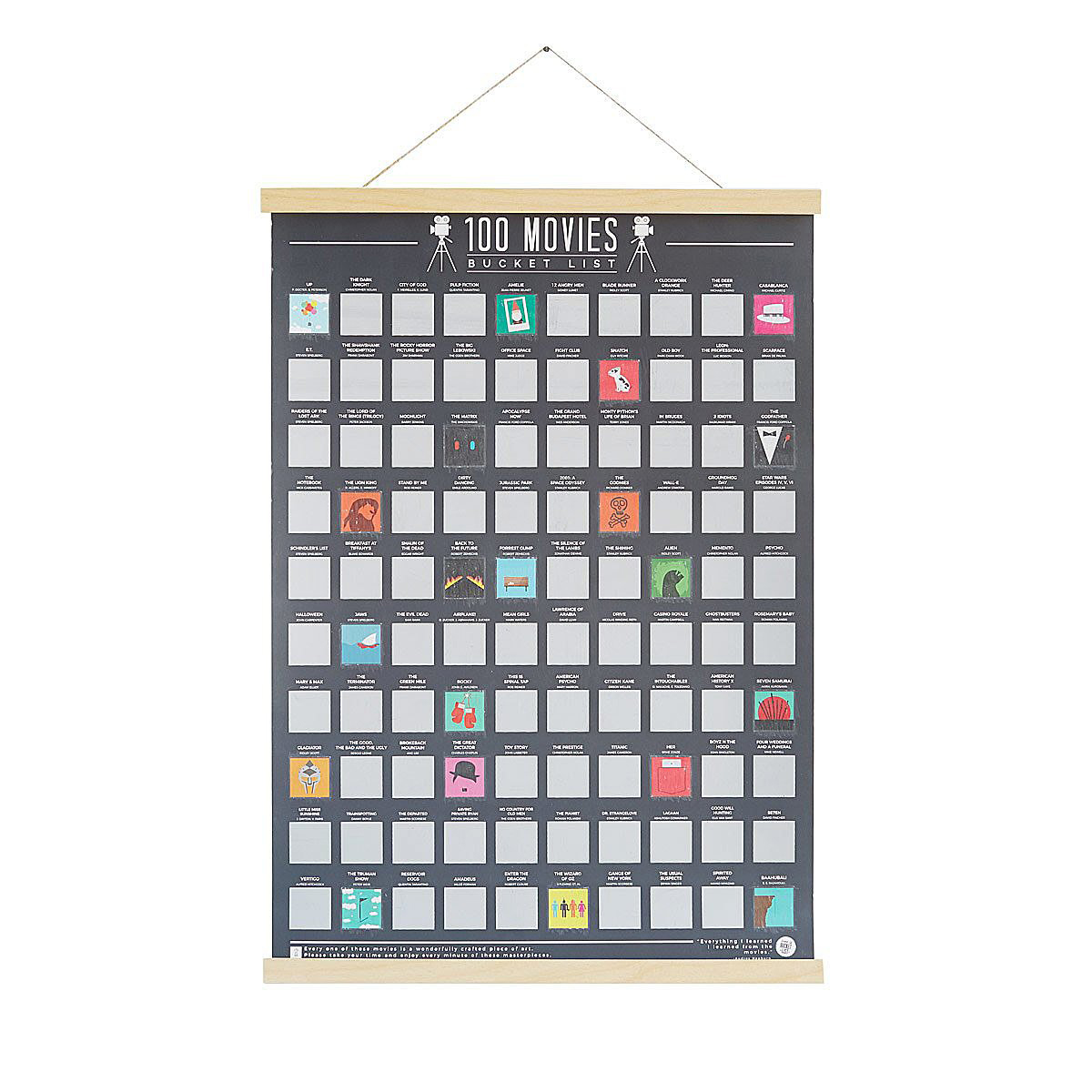 under 50 gift guide movie scratch off hanging poster