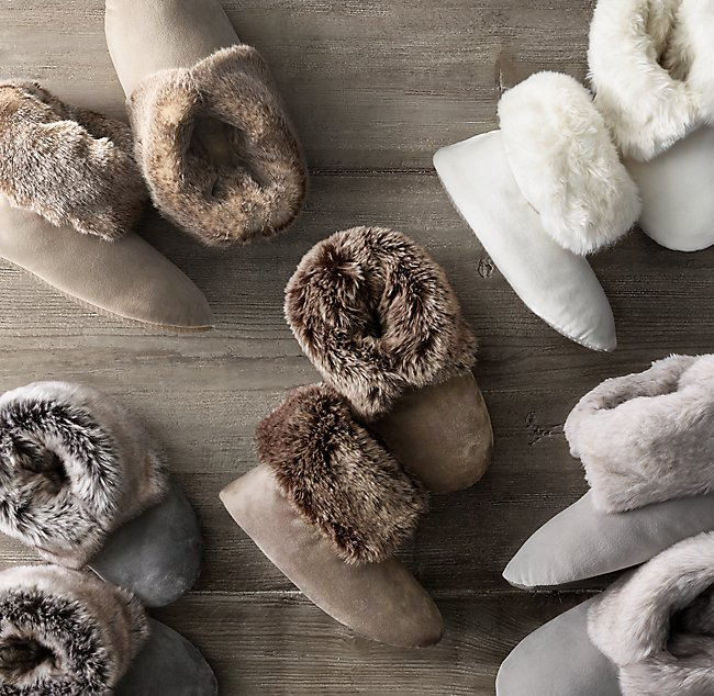 under 50 gift ideas group of faux fur booties