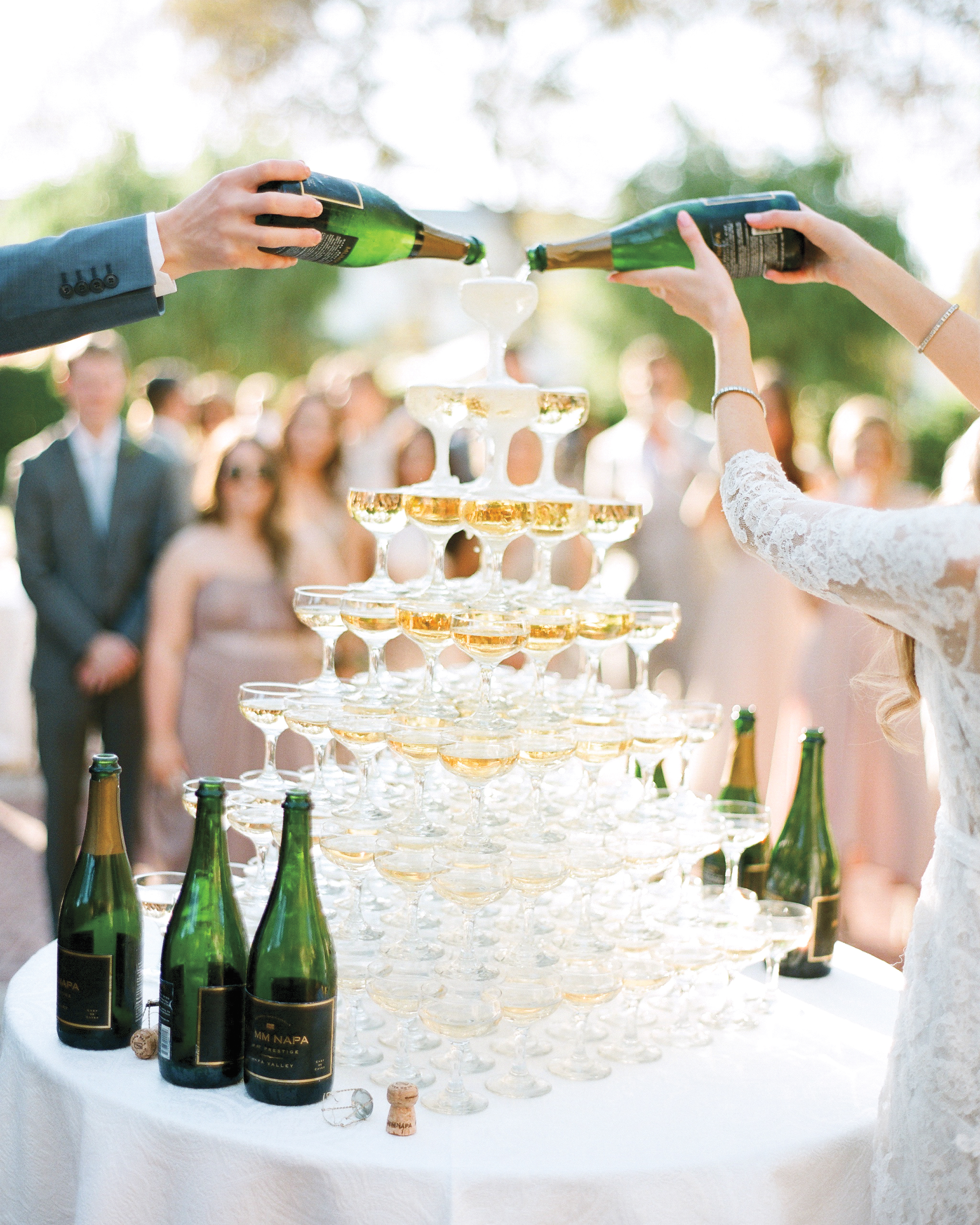 A Champagne Tower