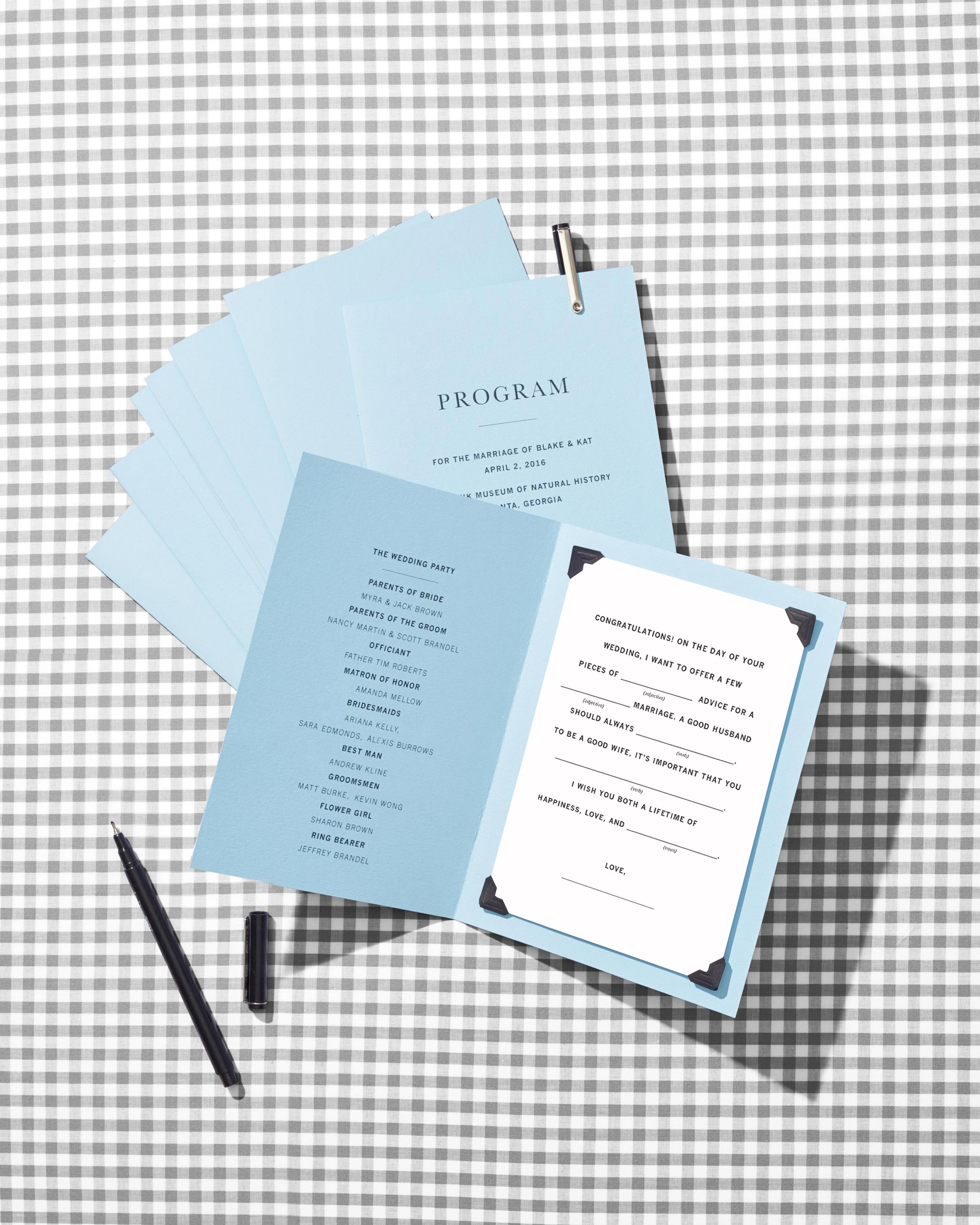 Make Your Wedding Programs More Fun with Mad Libs!