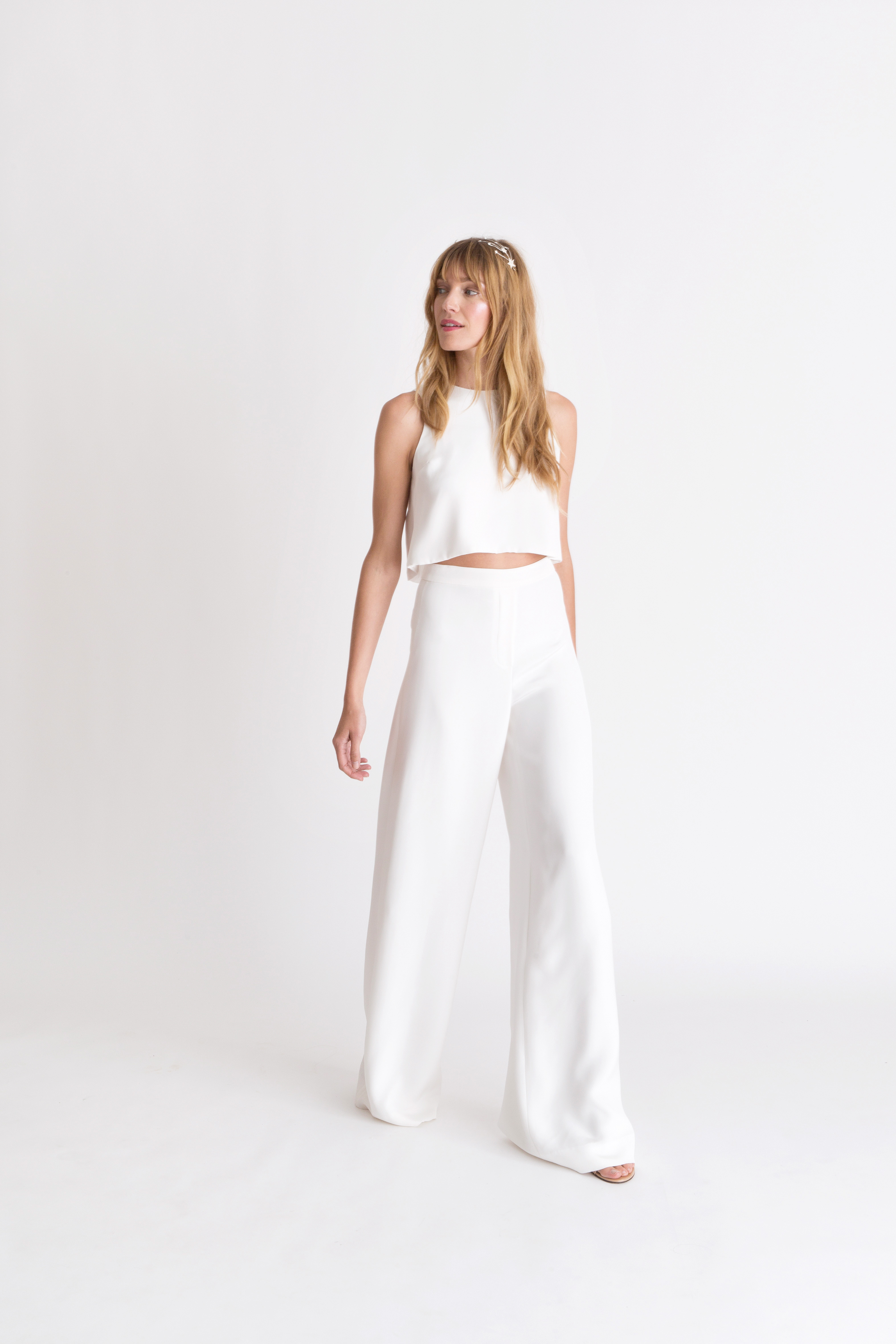 alexandra grecco pantsuit wedding dress spring 2018