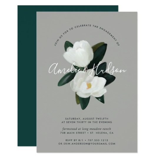 Zazzle Floral Engagement Party Invitation