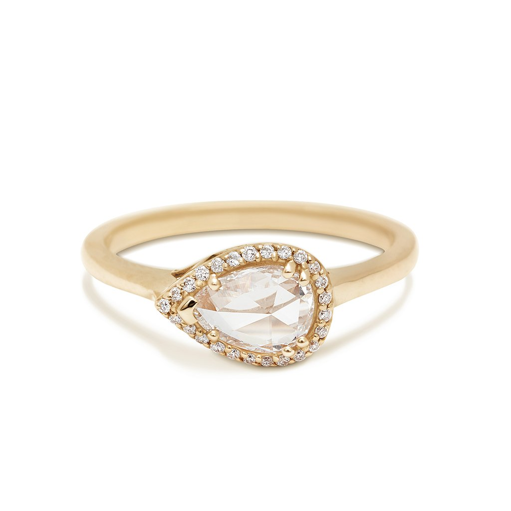 east west engagement rings anna sheffield petite pear