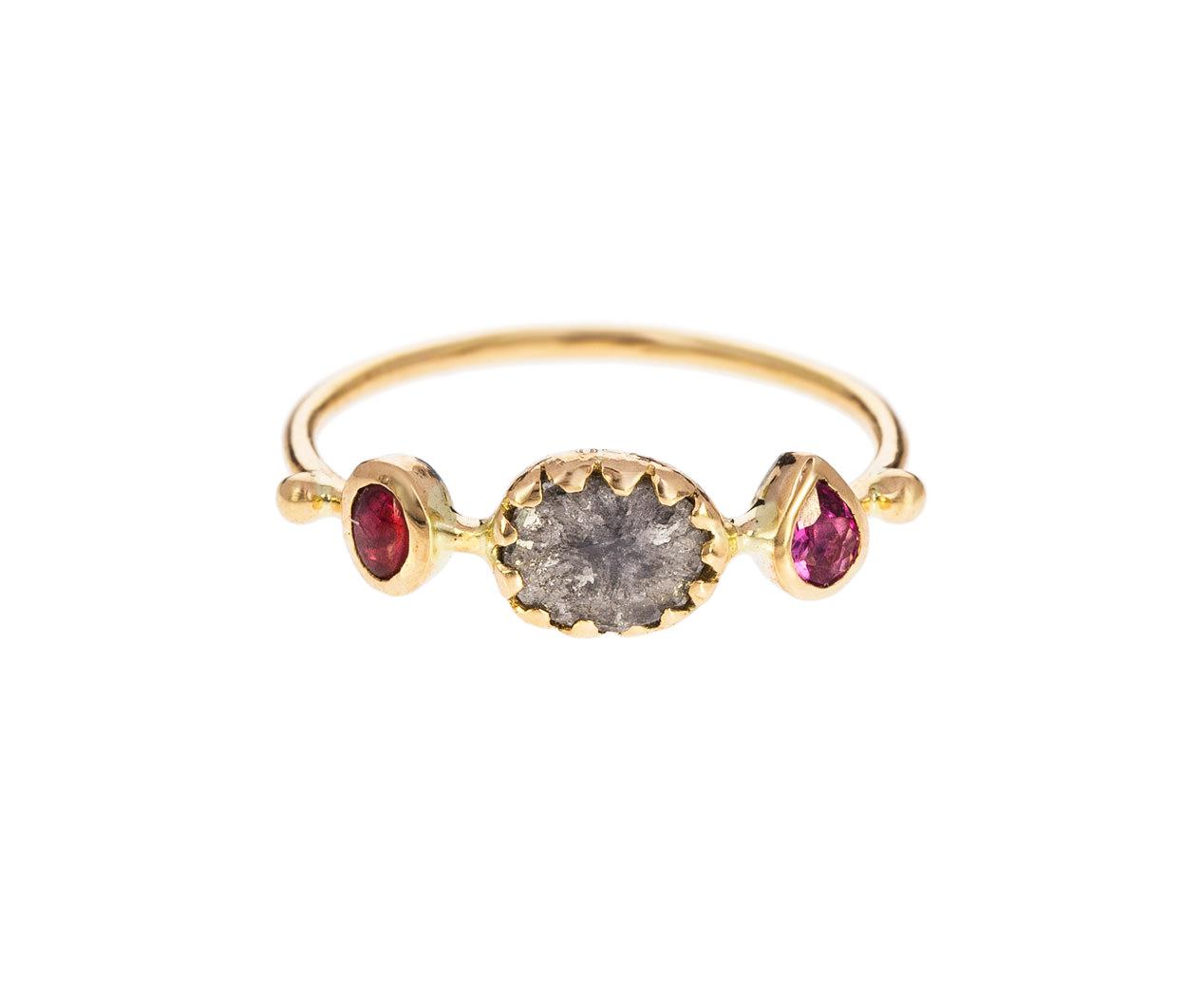 east west engagement rings forette pink tourmaline and diamond