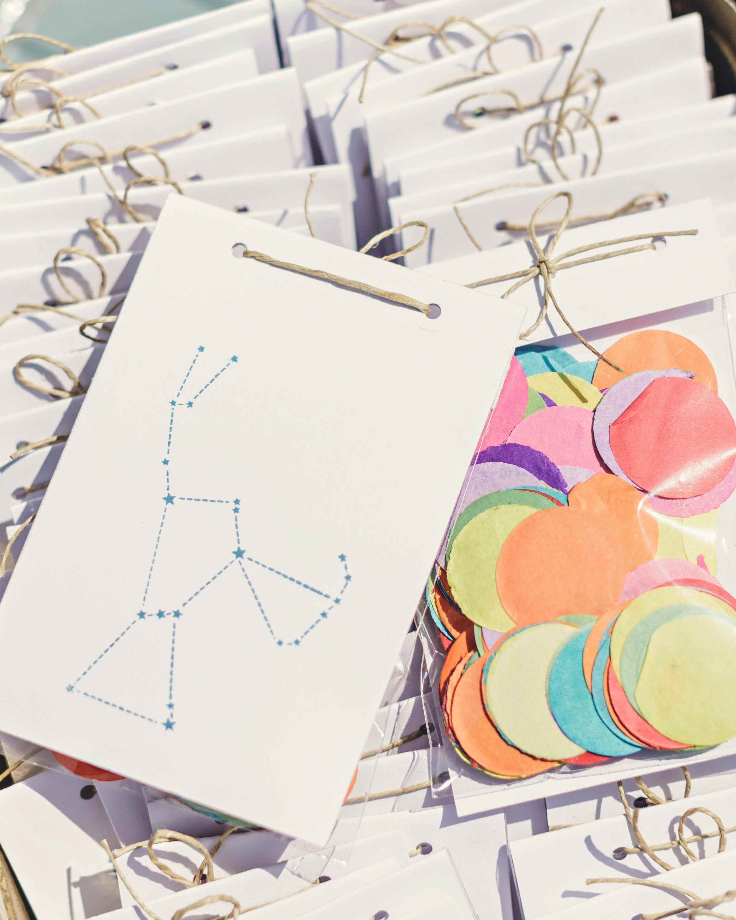Constellation-Stamped Confetti Bags