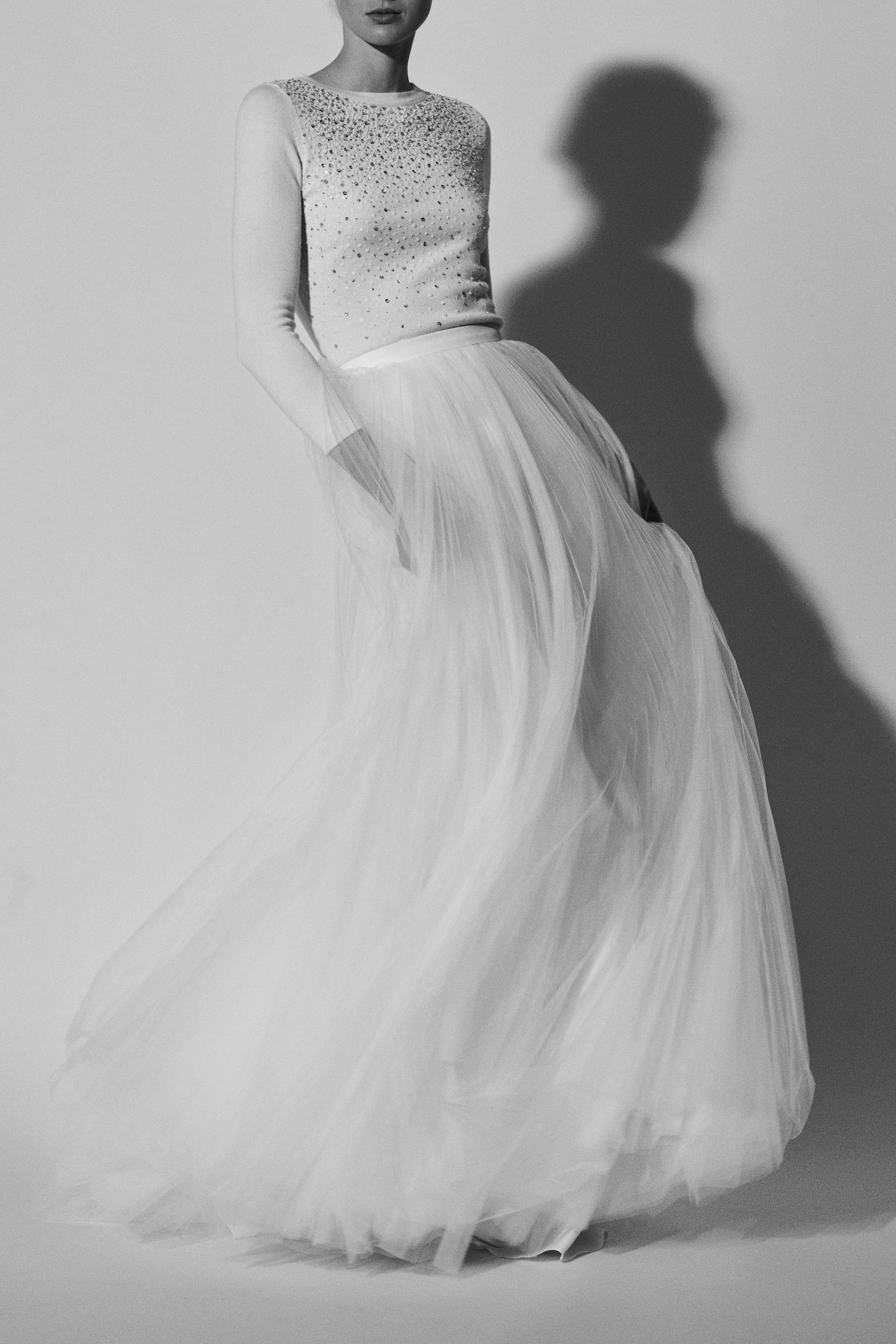 sparkly three-quarter length sleeves Carolina Herrera Wedding Dress Spring2018