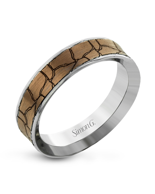gold and silver crackled wedding band