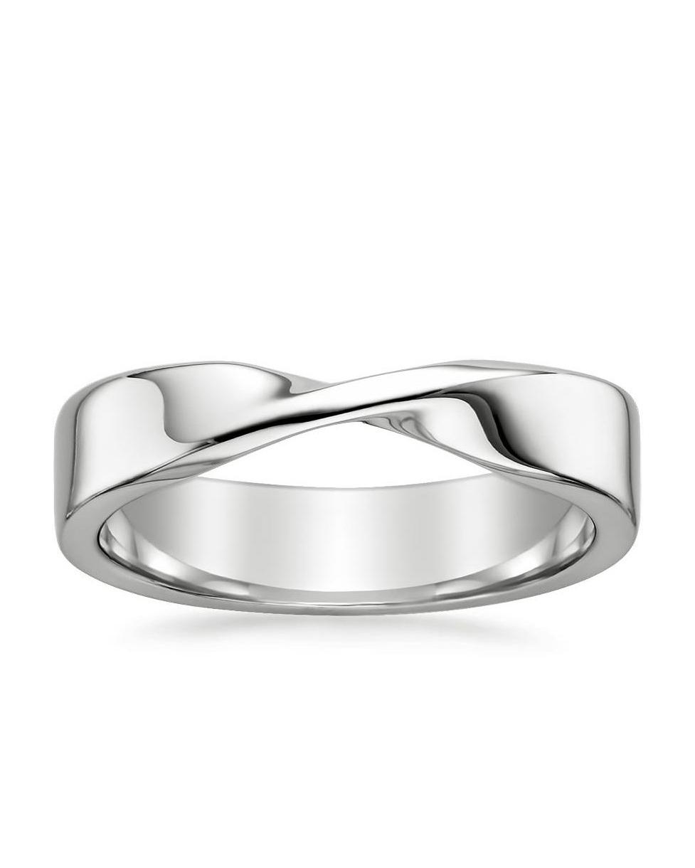 unique silver wedding band