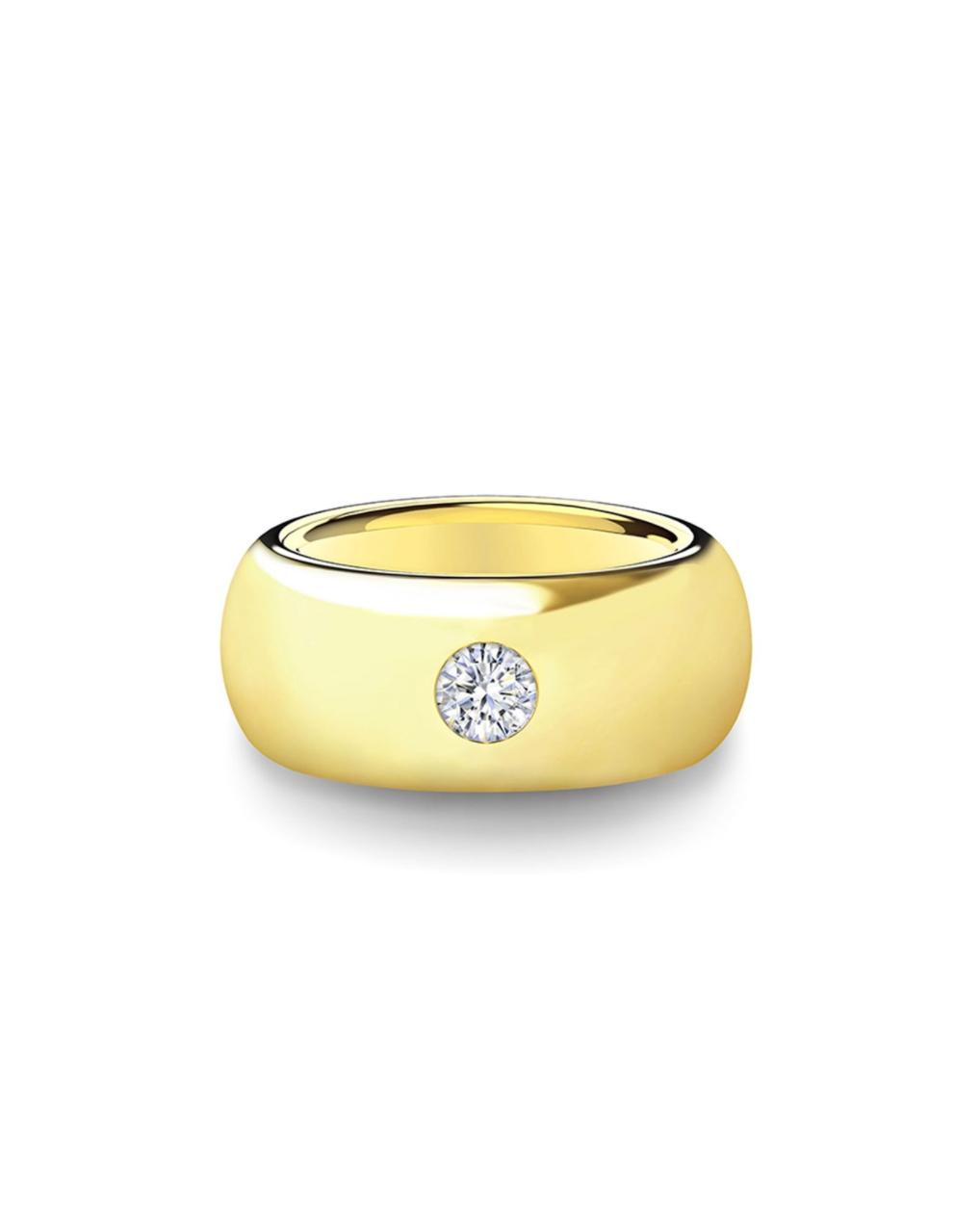 gold wedding band diamond