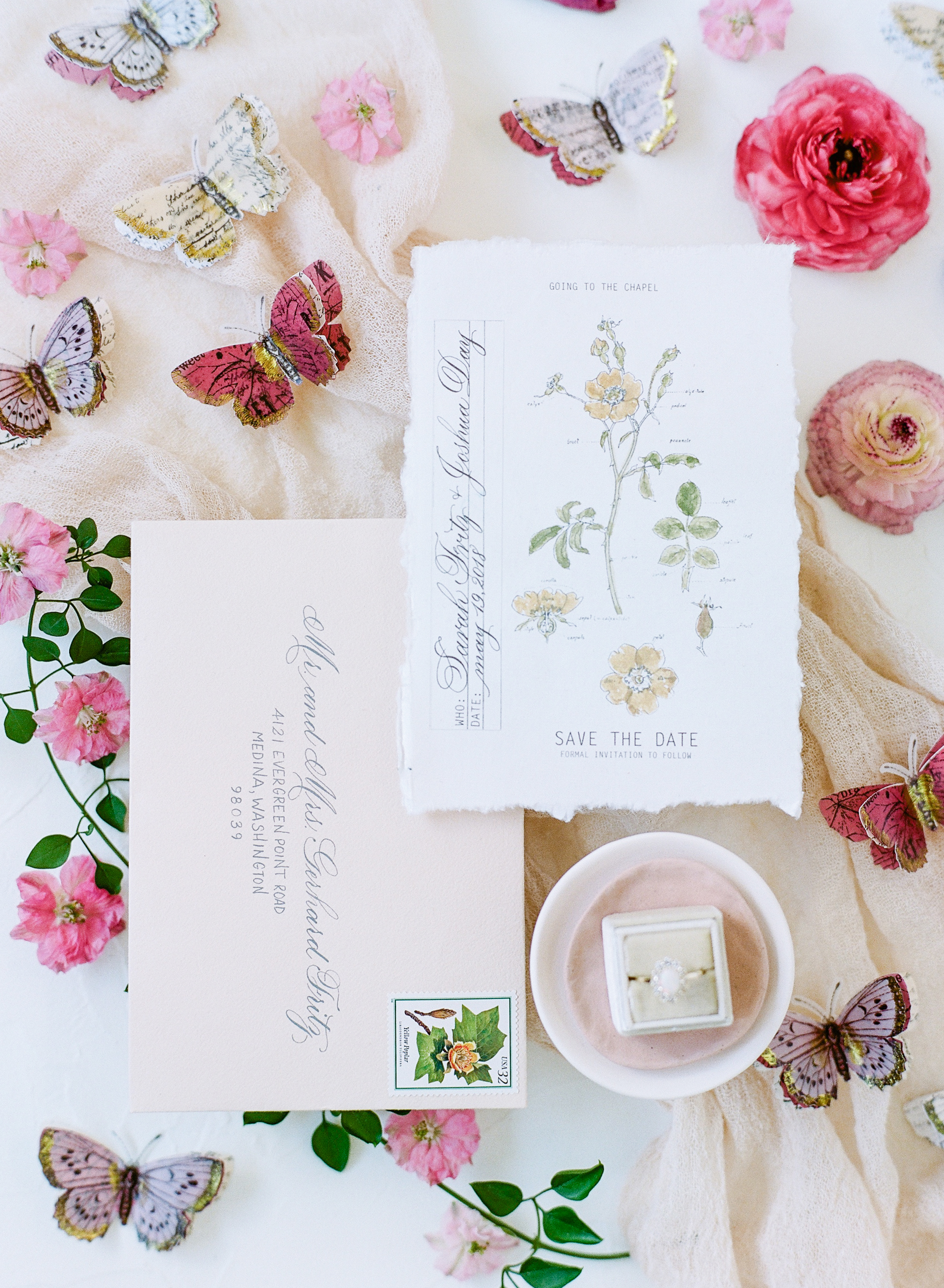 20 Floral Save-the-Dates for Your Spring Wedding