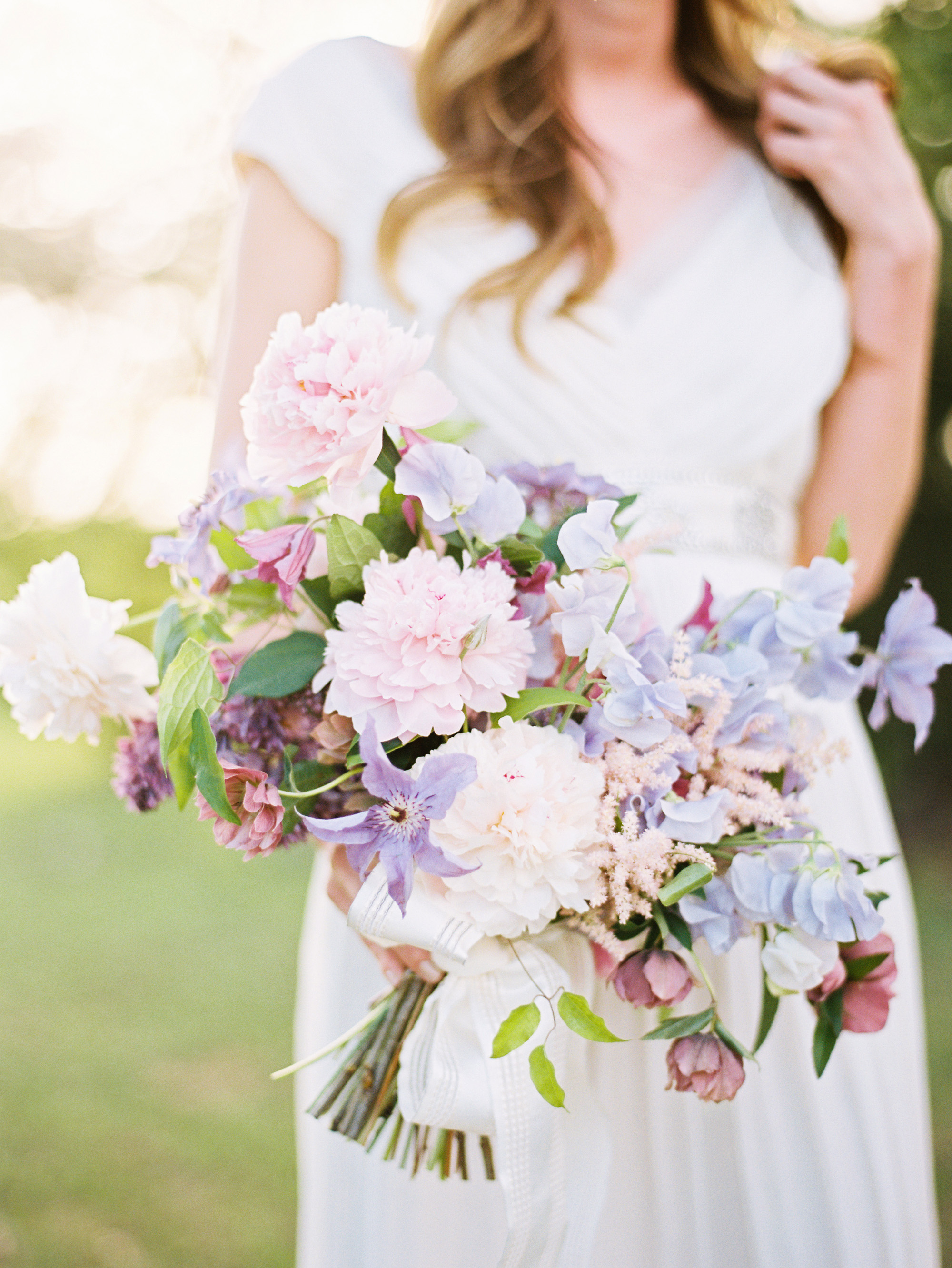 Pastel Pink and Purple Lilac Bouquet