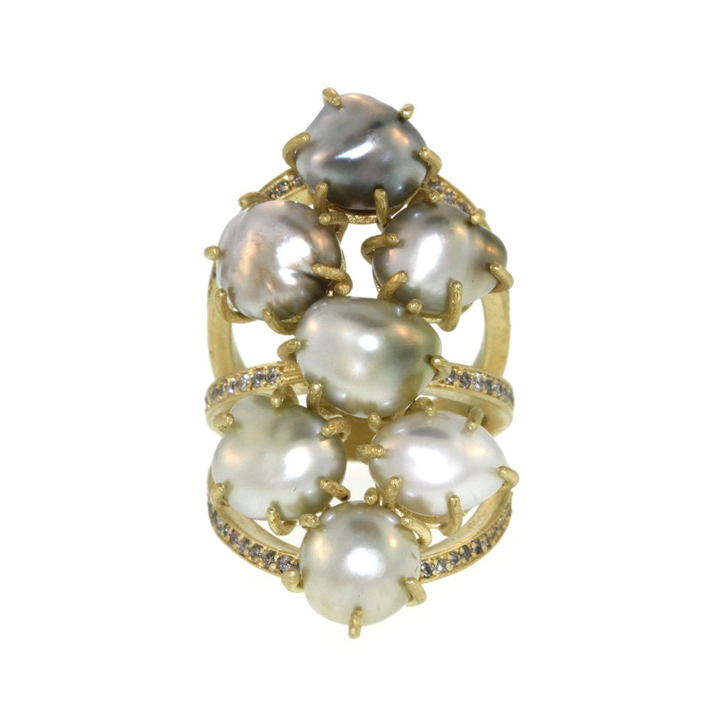 """The Seven Seas"" Pearl Ring"