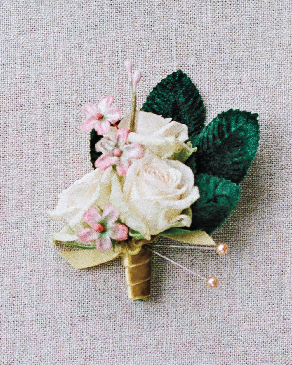 A Velvet-Accented Boutonniere