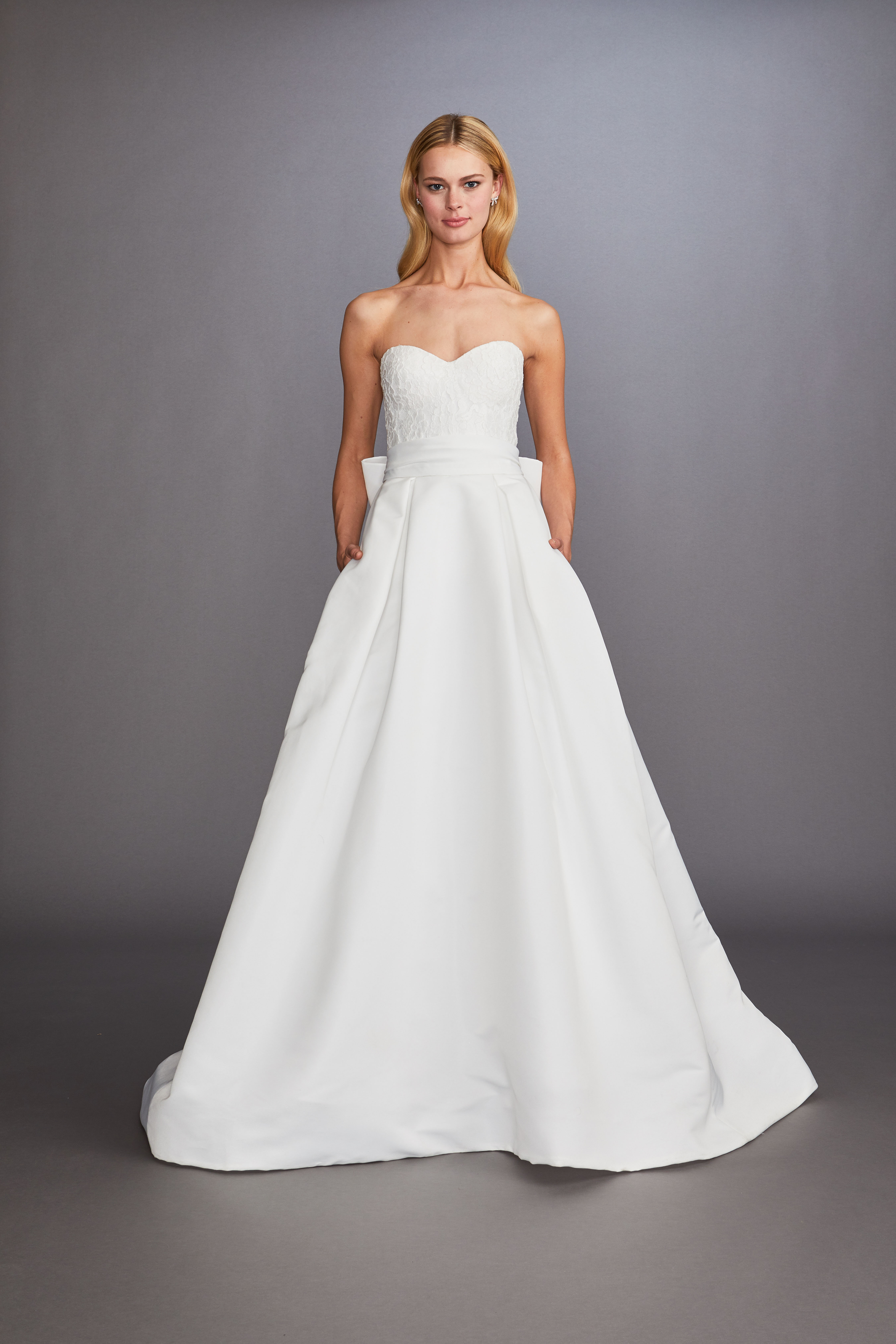 strapless sweetheart neckline a-line wedding dress Allison Webb Spring 2020