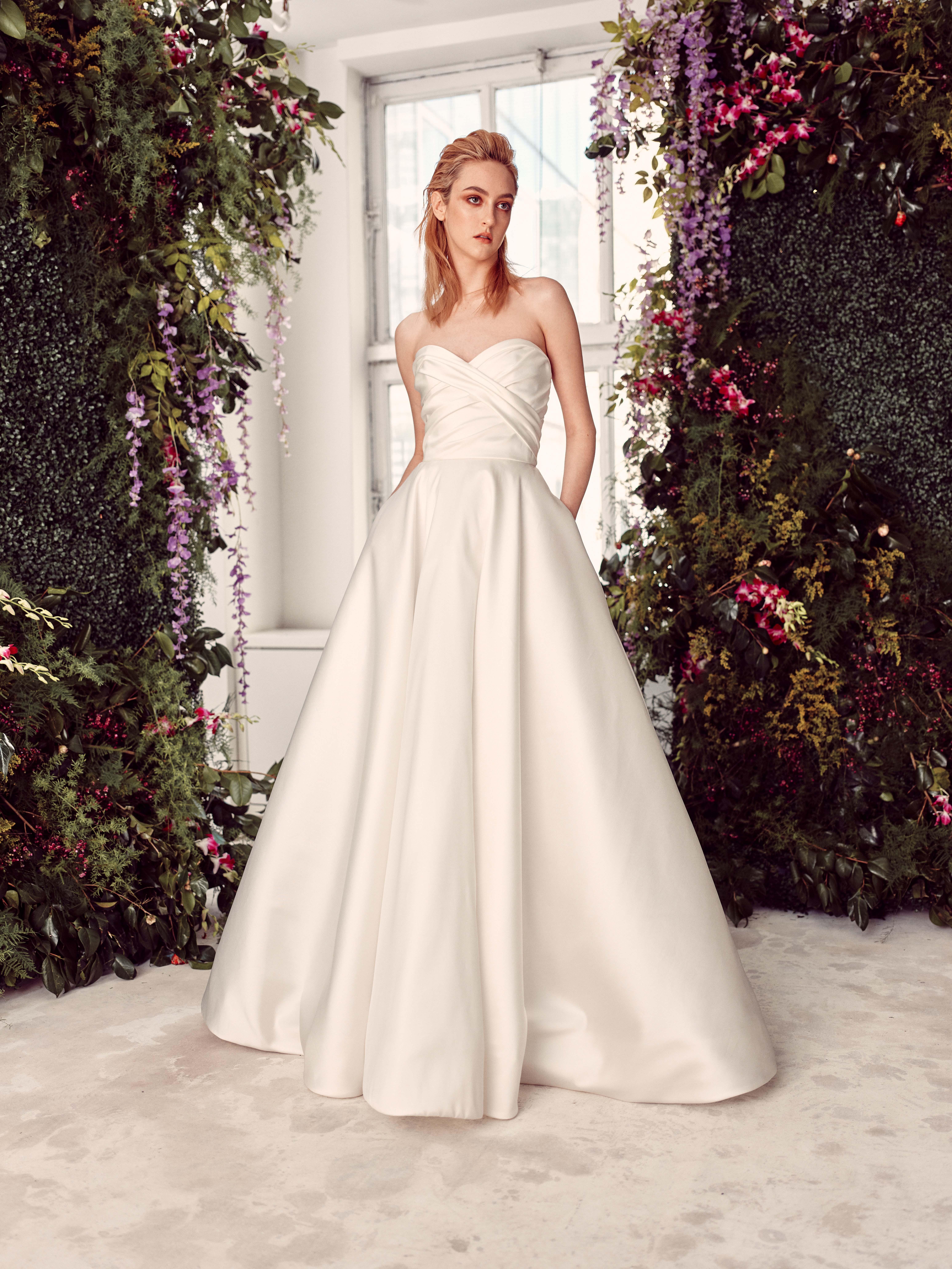 strapless semi sweetheart ruching a-line wedding dress Rivini by Rita Vinieris Spring 2020