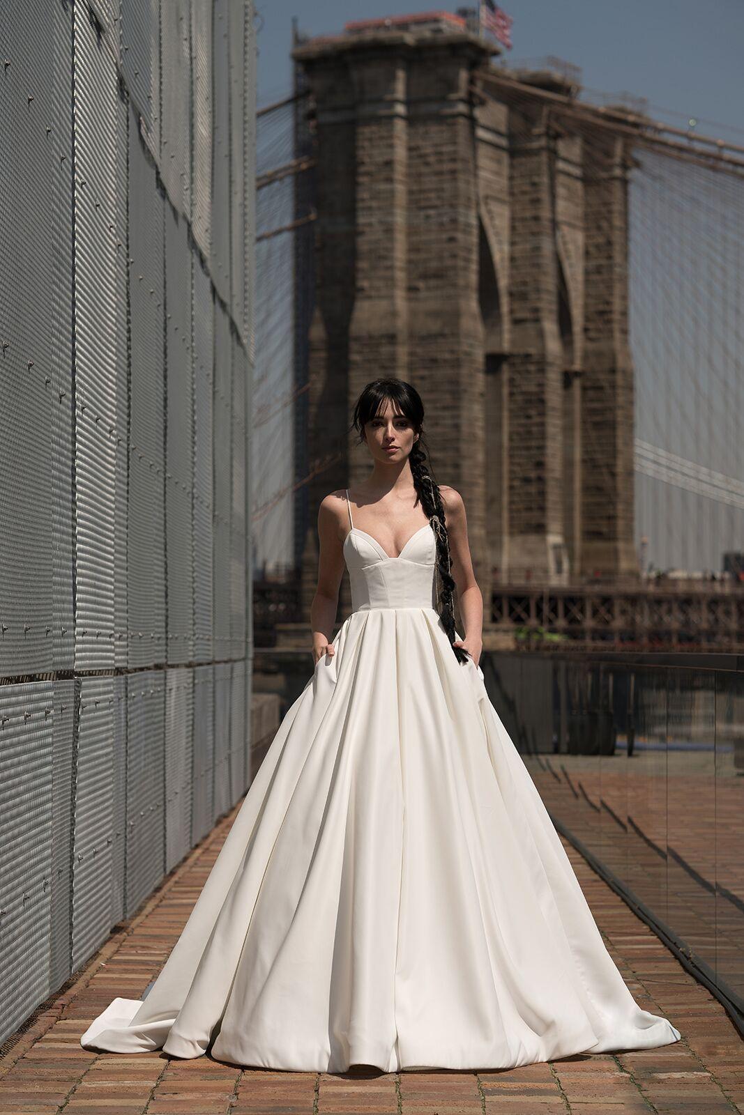 "alyne by rita vinieris ""crawford"" wedding dress spring 2019"