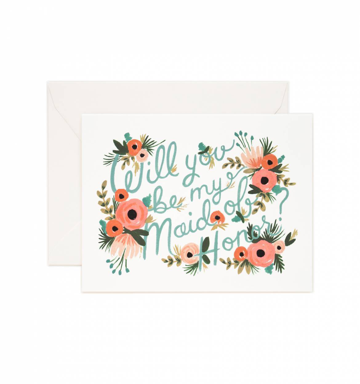 maid of honor proposal floral card