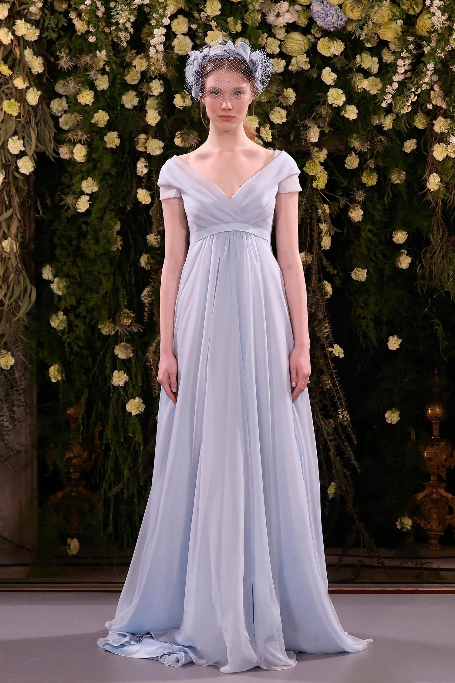 jenny packham wedding dress spring 2019 blue cap-sleeve a-line