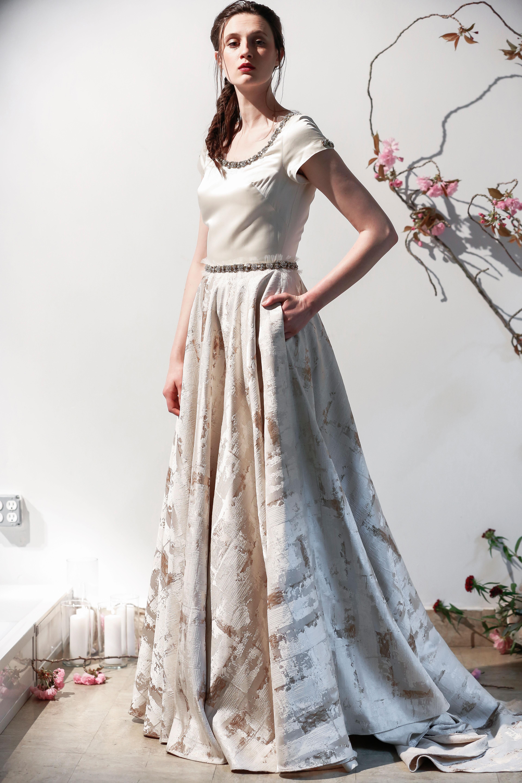 Mason Hosker box neckline wedding dress spring 2018