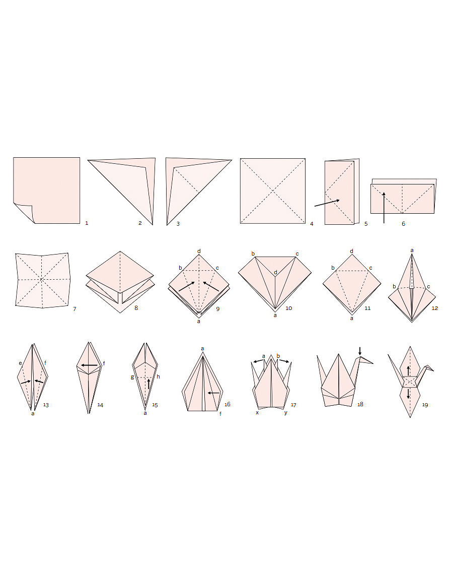 picture relating to Origami Crane Instructions Printable identified as How in the direction of Generate An Origami Crane for Your Wedding day Martha