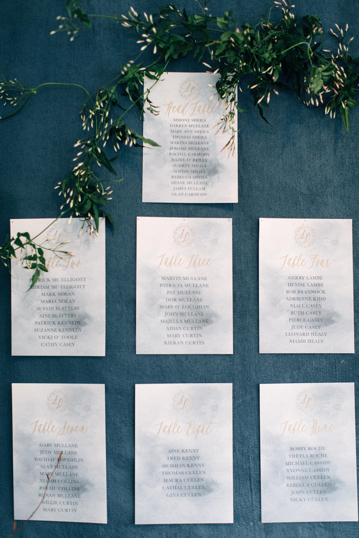 simone darren wedding ireland seating chart