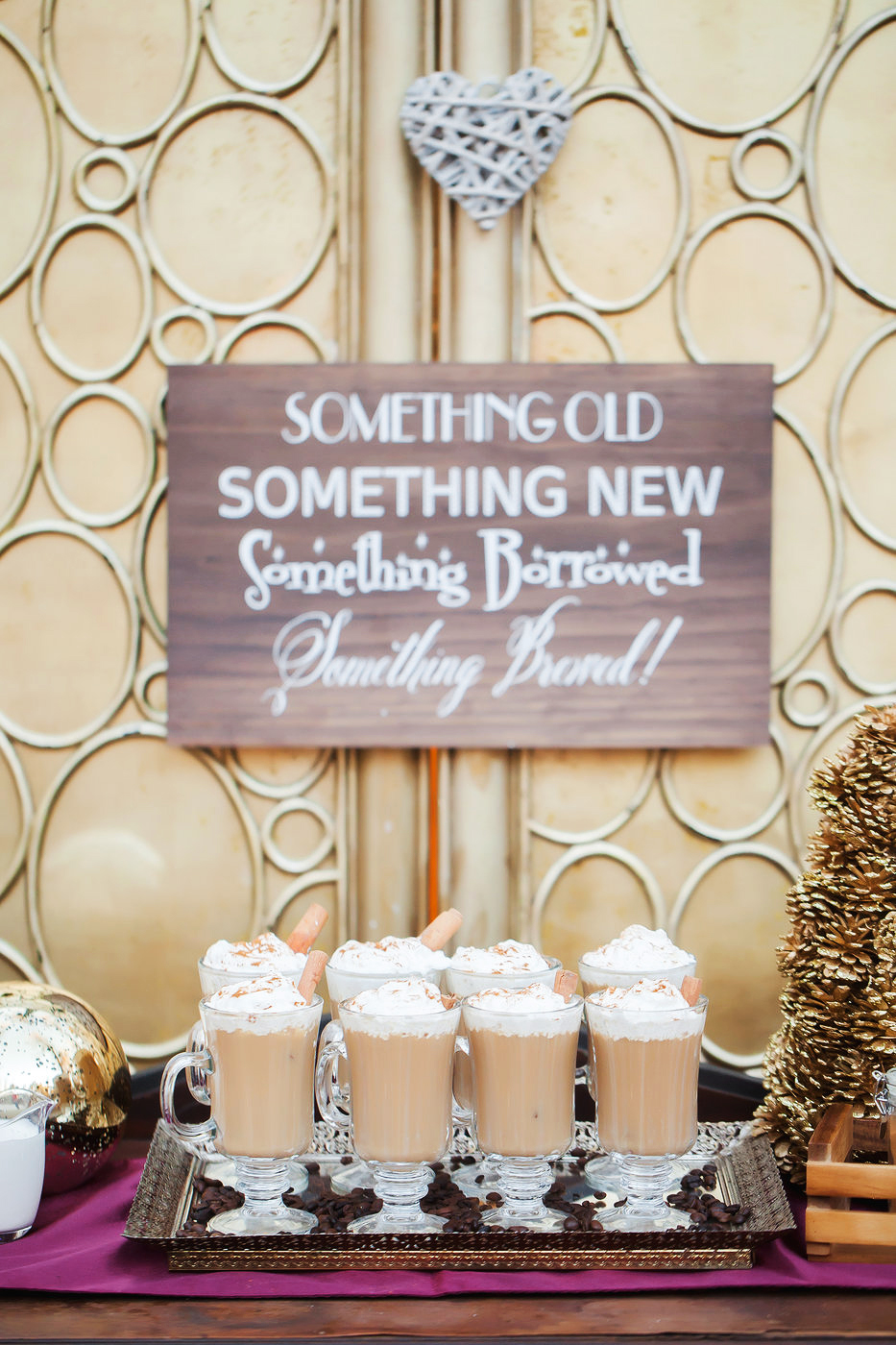 coffee wedding ideas Something Old, Something New, Something Borrowed, Something Brewed sign
