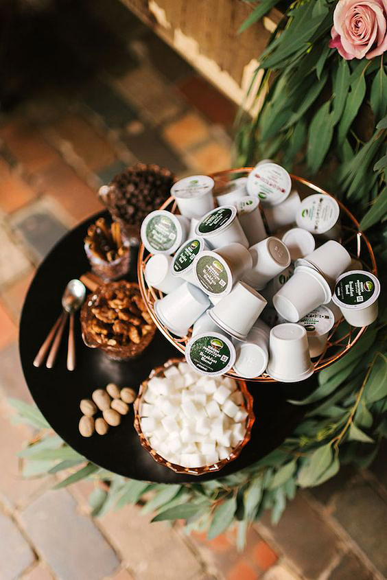 coffee wedding ideas self serve k-cups bar